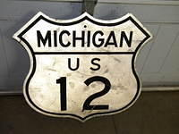 $OLD Michigan US Route 12 Shield Sign Large Version