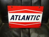 $OLD Nice Atlantic Porcelain Pump Sign