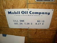 $OLD Mobil Oil Company Porcelain Field Lease Sign