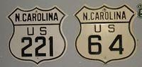 NC US 221 & NC US 64 Route Shields